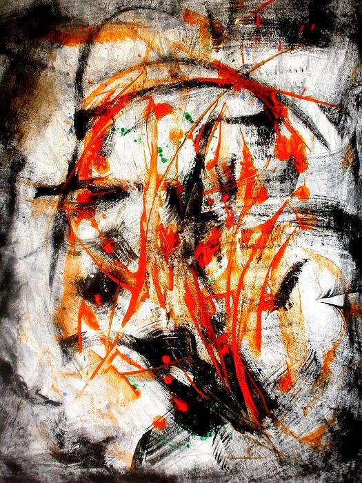 Little Swan Head Print by David Gatinois