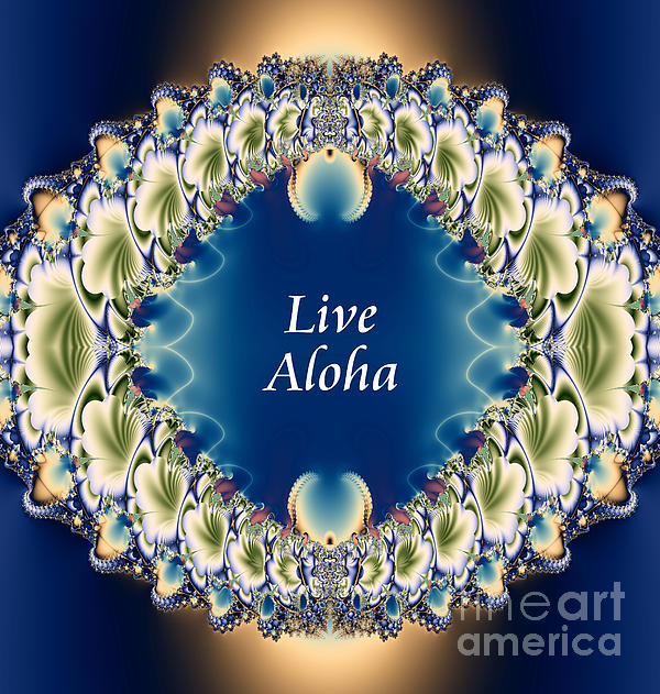 Live Aloha Print by Renee Trenholm