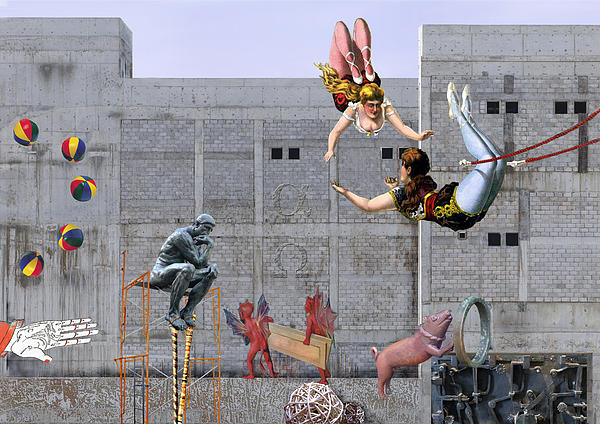 Live Circus At Heaven's Door Print by Maria Jesus Hernandez