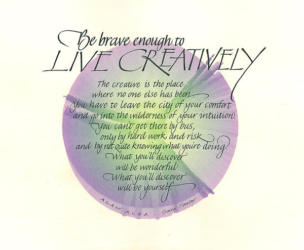 Live Creatively Print by Sally Penley