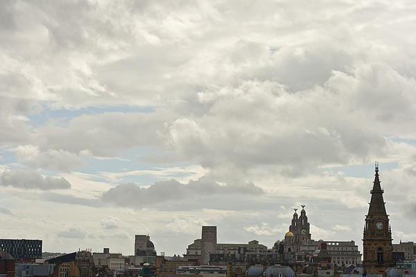 Liverpool Skyline Print by Nomad Art And  Design