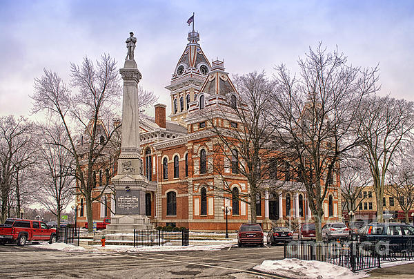 Livingston County Courthouse 06 Pontiac Il Print by Thomas Woolworth