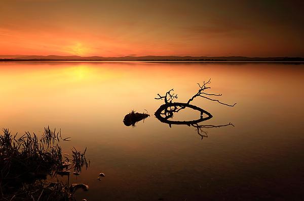 Loch Leven Sunset Print by Grant Glendinning