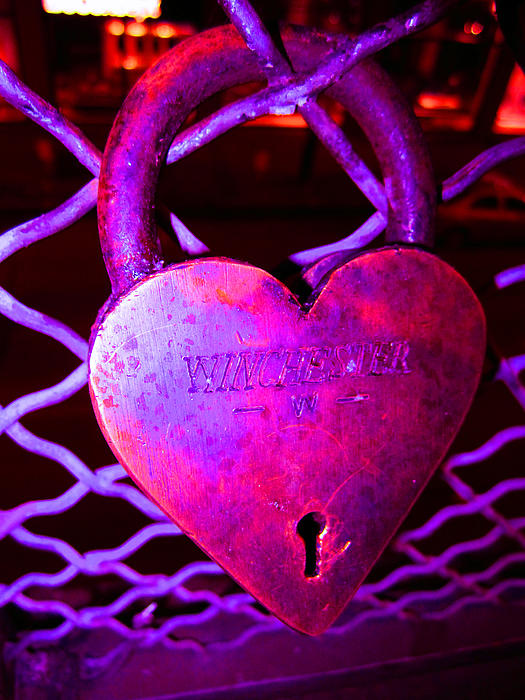 Lock Of Love In Pink Print by Kym Backland