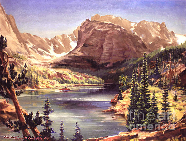 Lock Vale - Colorado Print by Art By Tolpo Collection