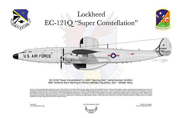 Lockheed Ec-121q Gold Diggers Print by Arthur Eggers