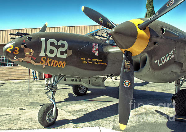 Lockheed P-38 - 162 Skidoo - 07 Print by Gregory Dyer