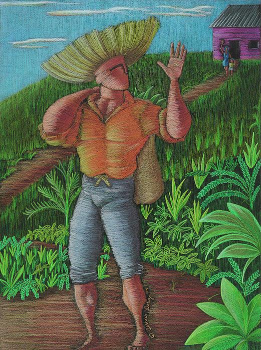 Loco De Contento Print by Oscar Ortiz