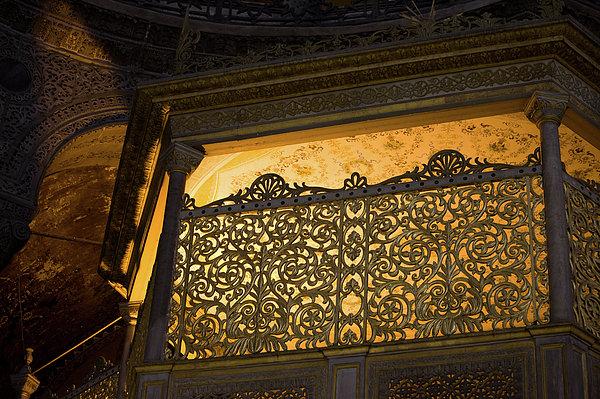 Loge Of The Sultan In Hagia Sophia Print by Artur Bogacki