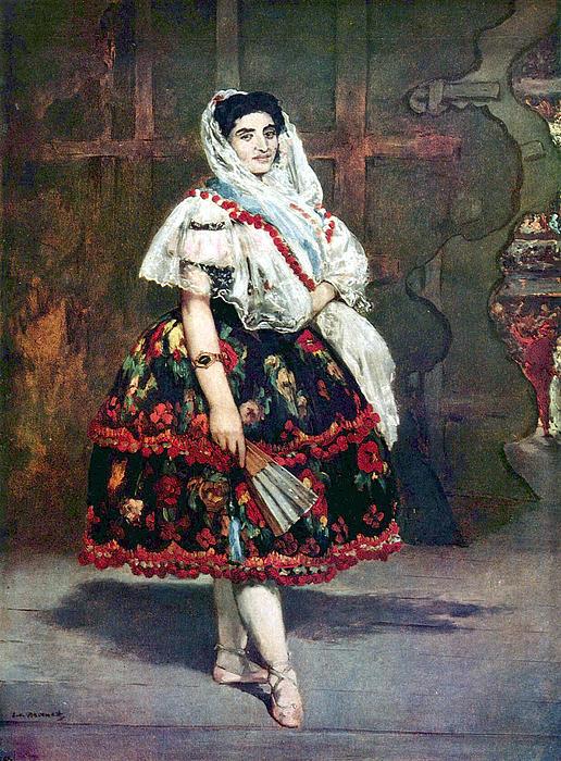 Lola Of Valencia Print by Edouard Manet