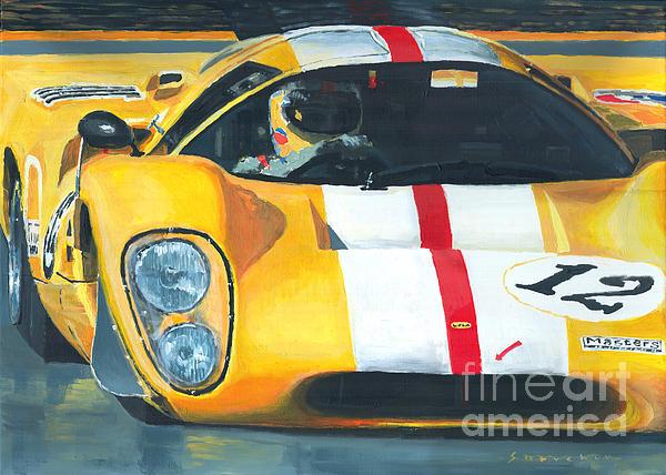 Lola T70 Mkiii/b 1969/1970 Season Cars Sebring Le Mans Print by Yuriy Shevchuk