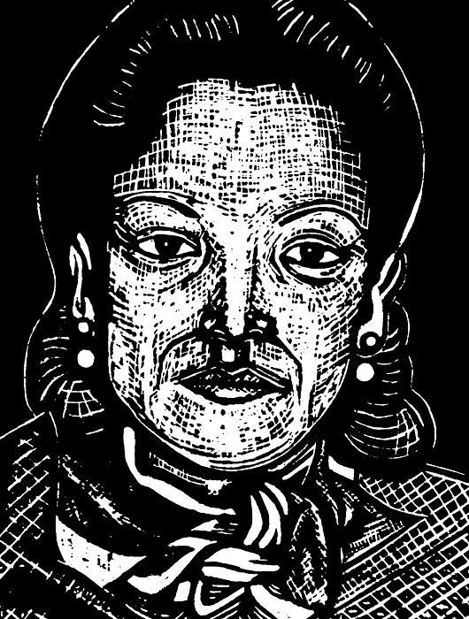 Lolita Lebron Print by Jane Madrigal