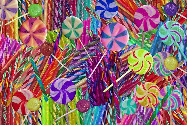 Lolly Pop Twists Print by Alixandra Mullins