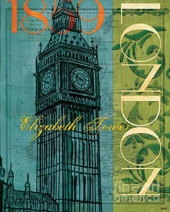 London 1859 Print by Debbie DeWitt