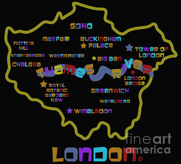 London Print by Dan Hilsenrath
