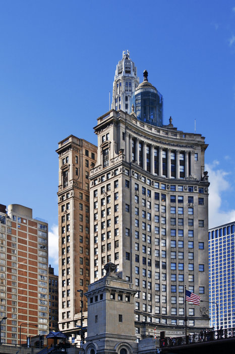 London Guarantee And Accident Building Chicago Print by Christine Till