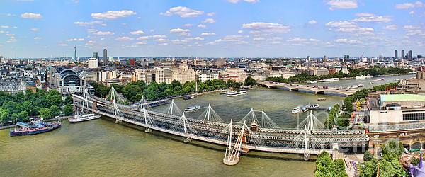London Panorama Print by Mariola Bitner