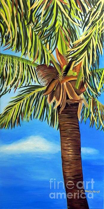 Lone Palm Print by Shelia Kempf