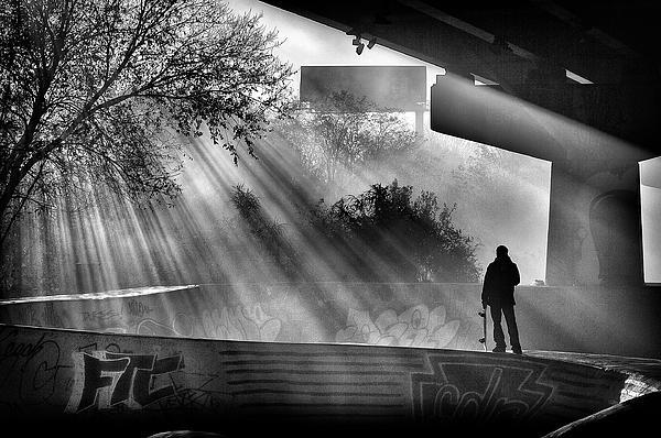 Lone Skater Print by Scott  Wyatt