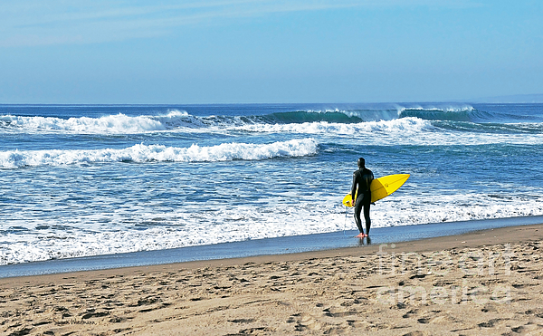 Lone Surfer Print by Susan Wiedmann