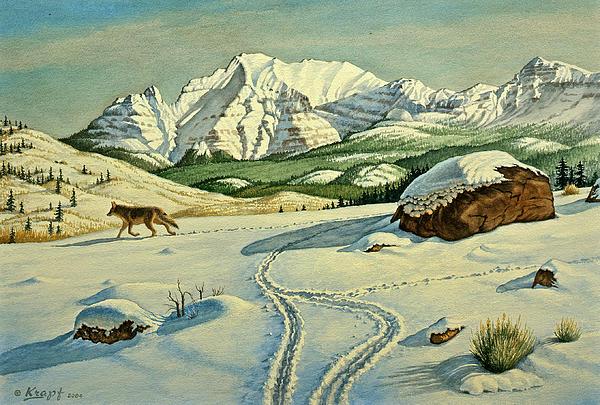 Lone Tracker Print by Paul Krapf