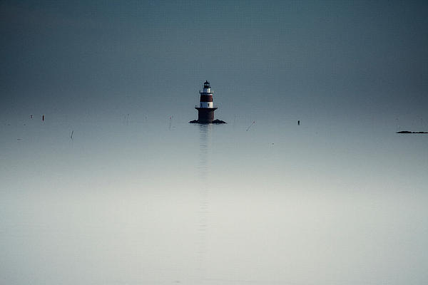 Lonely Lighthouse Print by Karol  Livote