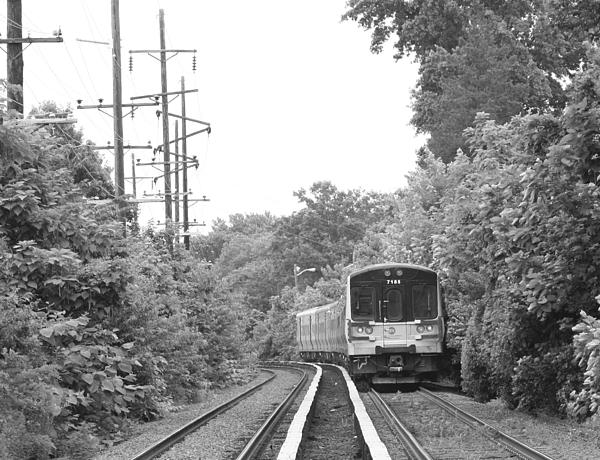John Telfer - Long Island Railroad Pulling into Station
