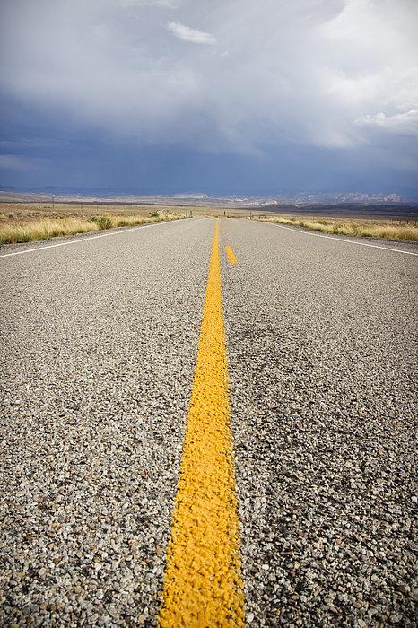 Long Lonely Road Print by Adam Romanowicz