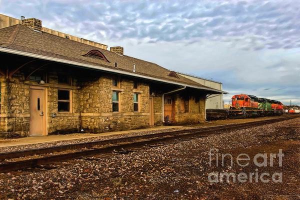 Longmont Depot Print by Jon Burch Photography