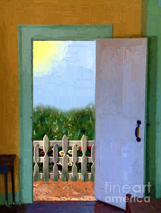Looking Out My Back Door Print by RC DeWinter