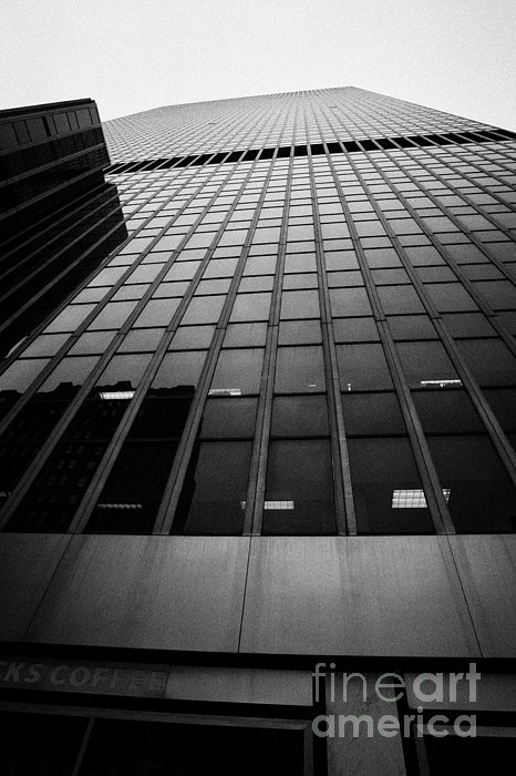 Looking Up At 1 Penn Plaza On 34th Street New York City Usa Print by Joe Fox