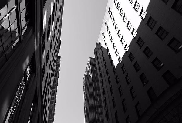 Looking Up In Nashville Black And White Print by Dan Sproul