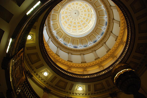 Looking Up The Capitol Dome - Denver Print by Dany  Lison