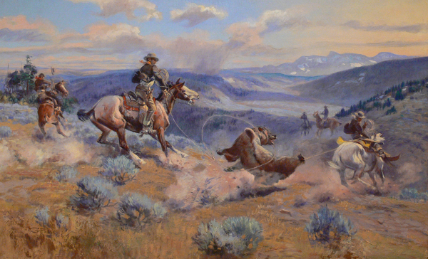 Loops And Swift Horses Are Surer Than Lead Print by Charles Russell