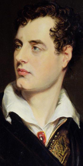 Lord Byron Print by William Essex