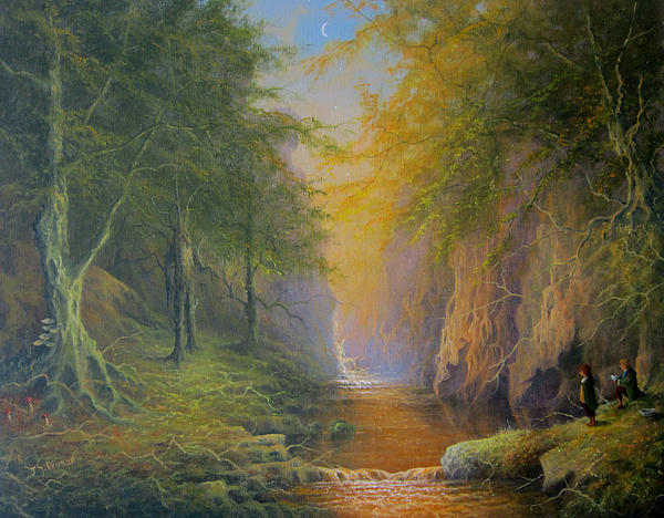 Joe  Gilronan - Lord Of The Rings Treebeard Merry and Pippin