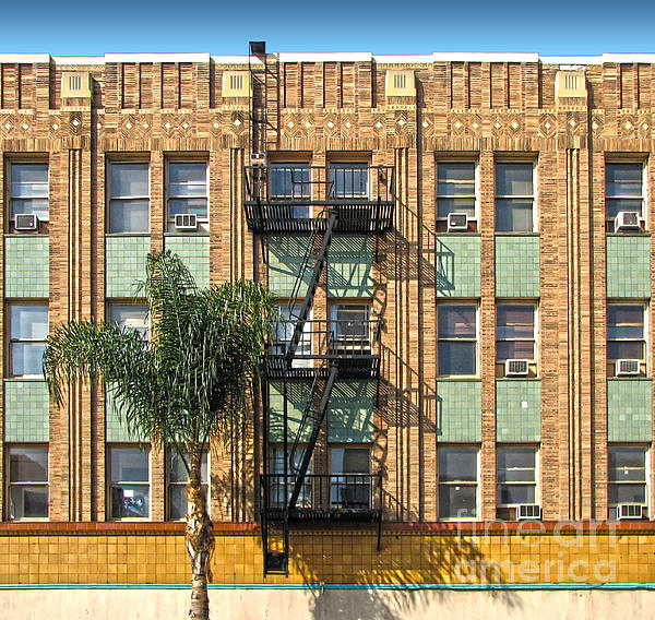 Los Angeles Facade Print by Gregory Dyer