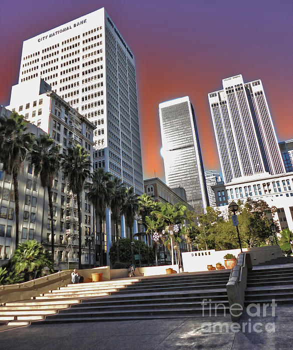 Los Angeles Historic Center Print by Gregory Dyer
