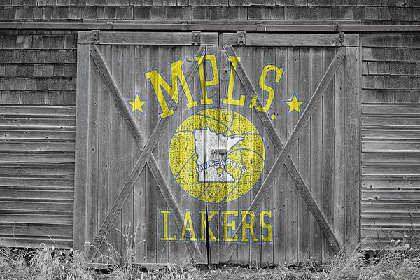 Los Angeles Milwaukee Lakers Print by Joe Hamilton