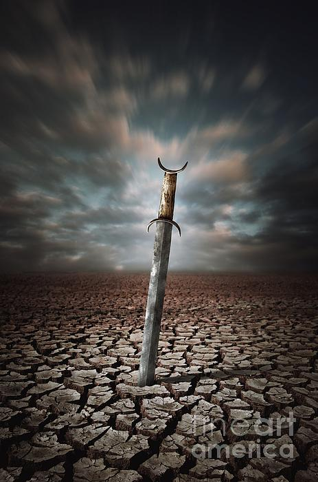 Lost Sword Print by Carlos Caetano