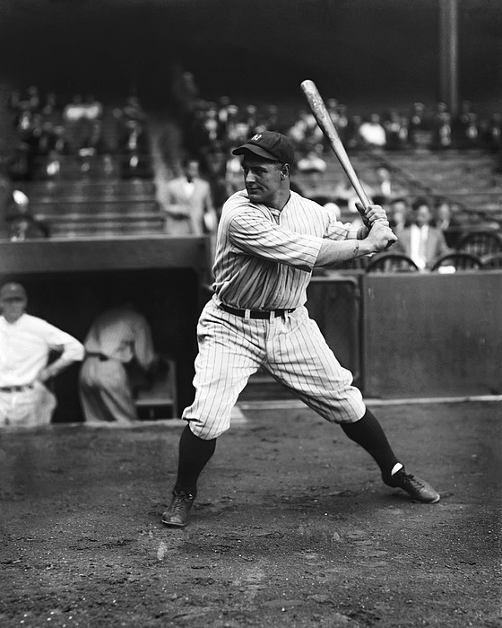 Lou Gehrig Practice Swing Print by Retro Images Archive