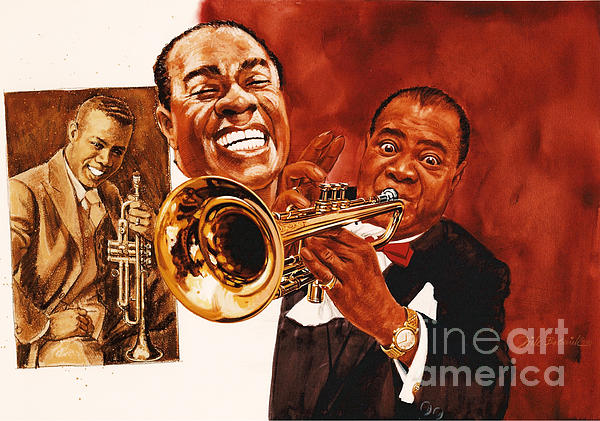 Louis Armstrong Print by Dick Bobnick