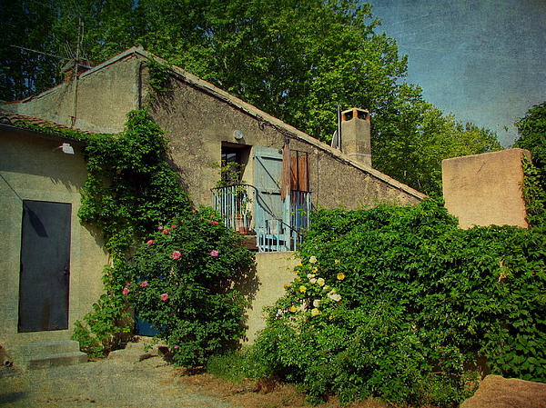 Lourmarin Cottage Print by Carla Parris