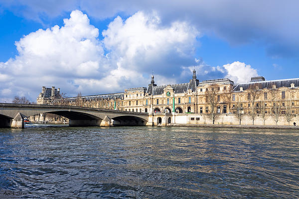 Mark E Tisdale - Louvre and The Seine on a Sunny Day