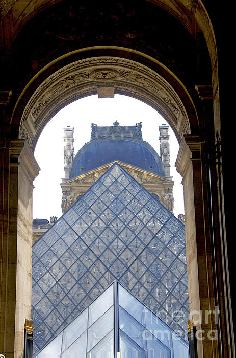 Louvre Palace Museum.paris. France Print by Bernard Jaubert