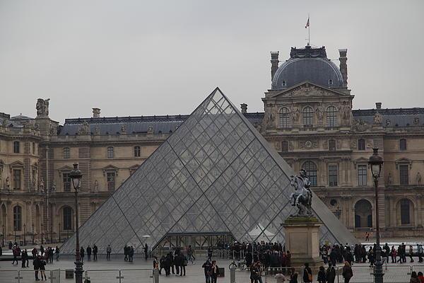 Louvre - Paris France - 011314 Print by DC Photographer