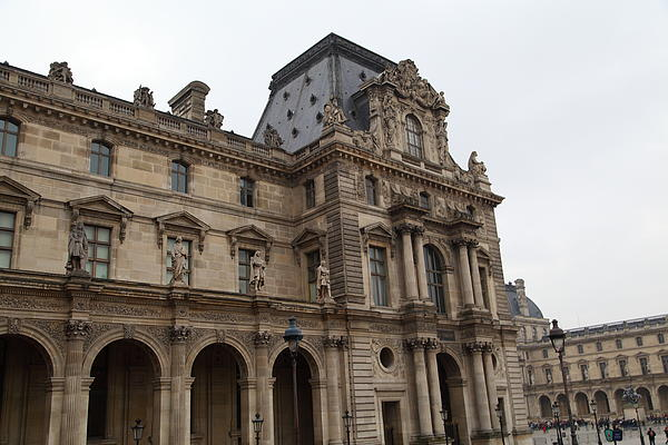 Louvre - Paris France - 011317 Print by DC Photographer