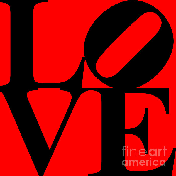 Love 20130707 Black Red Print by Wingsdomain Art and Photography