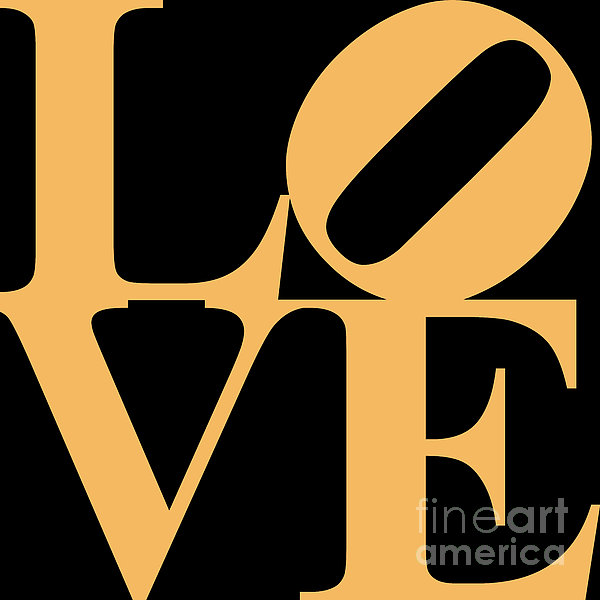 Love 20130707 Orange Black Print by Wingsdomain Art and Photography