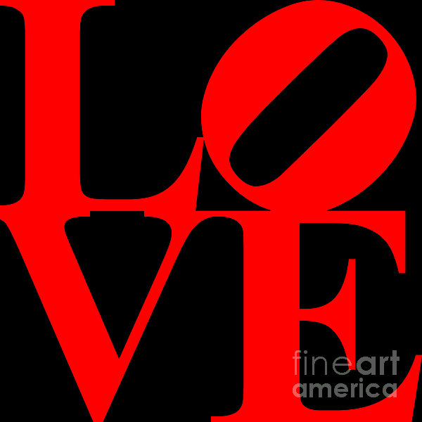 Love 20130707 Red Black Print by Wingsdomain Art and Photography